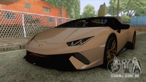 Lamborghini Huracan Performante Spyder para GTA San Andreas