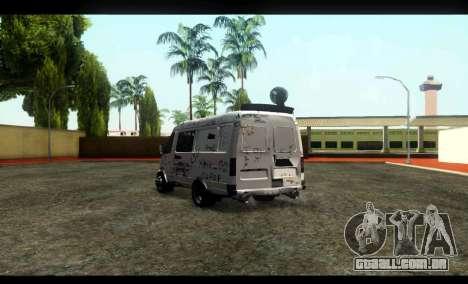 GÁS 22172 Sable BC para GTA San Andreas traseira esquerda vista