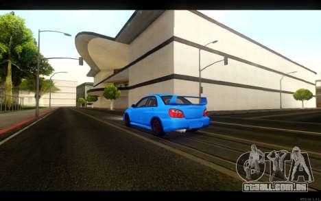 Subaru Impreza WRX STi 2004 Clean para GTA San Andreas traseira esquerda vista