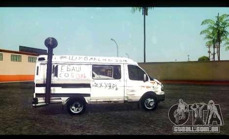 GÁS 22172 Sable BC para GTA San Andreas esquerda vista