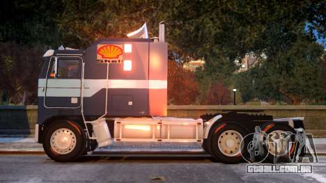 USA TRUCK Kenworth K100 VIP REL para GTA 4 esquerda vista