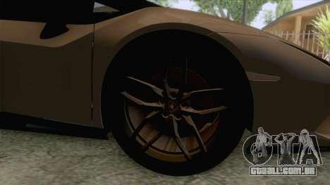 Lamborghini Huracan Performante Spyder para GTA San Andreas vista traseira