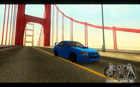 Subaru Impreza WRX STi 2004 Clean para GTA San Andreas vista traseira