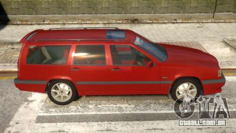Volvo 850R para GTA 4 vista de volta