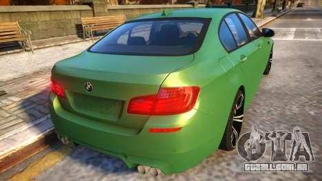 BMW M5-series F10 Azerbaijan style para GTA 4 vista direita