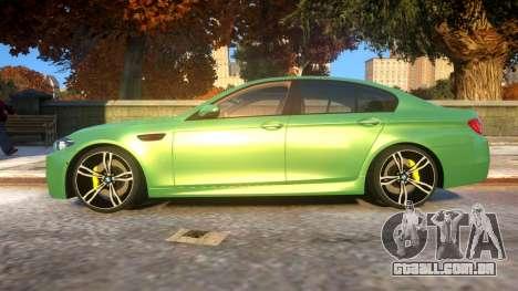 BMW M5-series F10 Azerbaijan style para GTA 4 esquerda vista