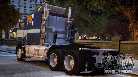USA TRUCK Kenworth K100 VIP REL para GTA 4 traseira esquerda vista