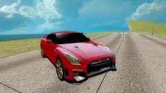 Nissan GTR Nismo vermelho para GTA San Andreas