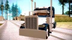 Peterbilt 389 azul para GTA San Andreas