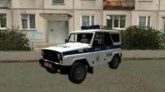 UAZ Polícia Minsk para GTA San Andreas