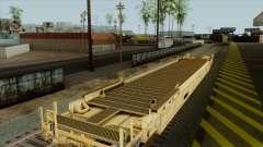 Vagão-plataforma (cor amarela) para GTA San Andreas