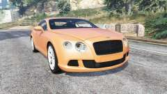 Bentley Continental GT 2012 v1.2 [replace] para GTA 5