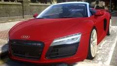 2014 Audi R8 V10 Plus Spyder v1.0 para GTA 4