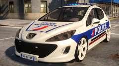 Peugeot 308 GTi Police Nationale para GTA 4
