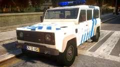 Land Rover Defender Police V2 para GTA 4