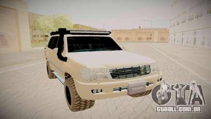 Toyota Land Cruiser 100 prata para GTA San Andreas