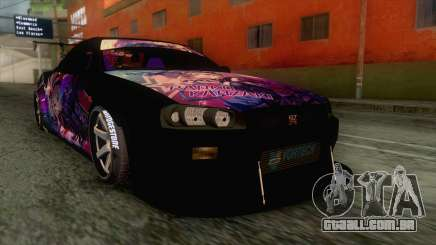 Nissan Skyline R34 Itasha Kanzaki Ran IVF para GTA San Andreas