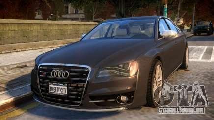 2013 Audi S8 4.0TFSI Quattro para GTA 4