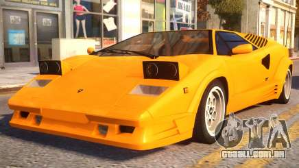 1989 Lamborghini Countach 25th Anniversary v1.1 para GTA 4