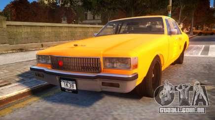1985 Chevrolet Caprice NYC Taxi para GTA 4