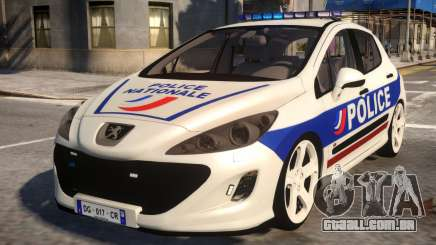 Peugeot 308 GTi Police Nationale para GTA 4
