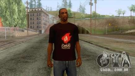 Wasthi T-Shirt para GTA San Andreas