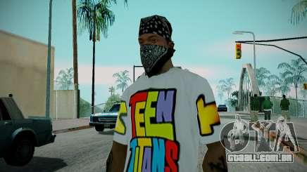 Teen Titans T-Shirt para GTA San Andreas