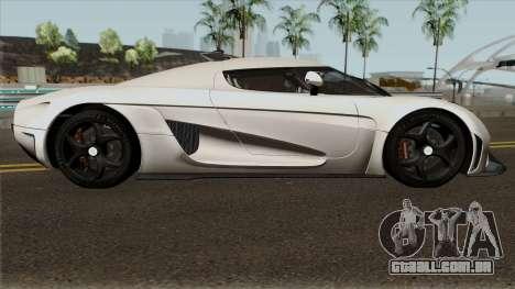 Koenigsegg Regera Project 2018 para GTA San Andreas