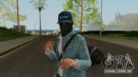 Marcus Holloway - Watch Dogs GTA Online Cosplay para GTA San Andreas