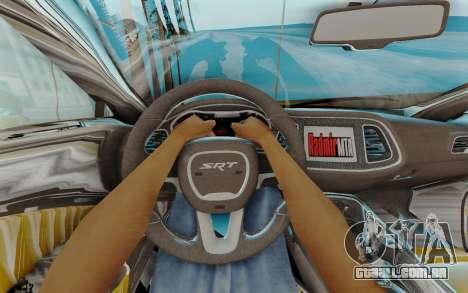 Dodge Challenger para GTA San Andreas vista interior