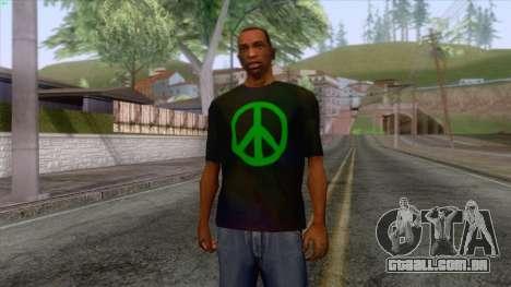 Hippie T-Shirt 1 para GTA San Andreas