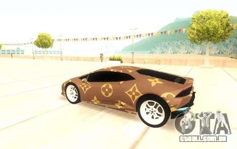 Lamborghini Huracan para GTA San Andreas vista direita