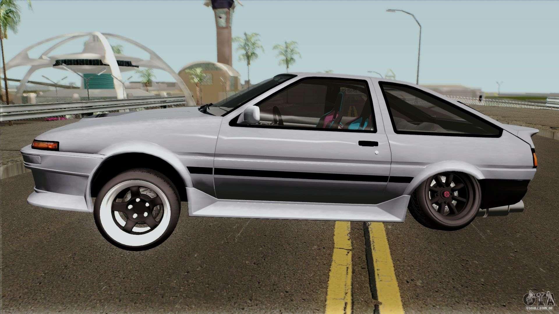 Toyota Sprinter Trueno AE86 Para GTA San Andreas Esquerda Vista
