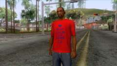 Keep Calm and Love CJ T-Shirt para GTA San Andreas