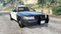 Ford Crown Victoria Sheriff CVPI [replace] para GTA 5