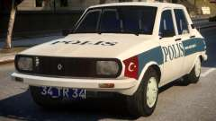 Renault 12 Turkish Police v.2 para GTA 4
