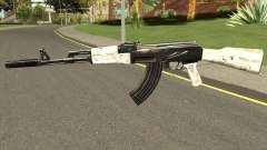 AK-47 Grey Chrome para GTA San Andreas