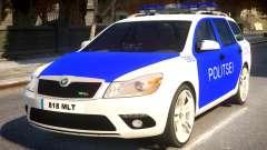 Estonian Police Skoda Octavia RS Combi 2010 para GTA 4