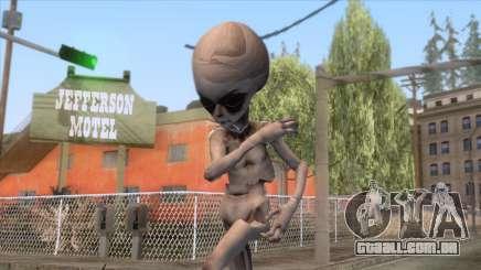 The Hum Abductions - Grey Alien Skin para GTA San Andreas