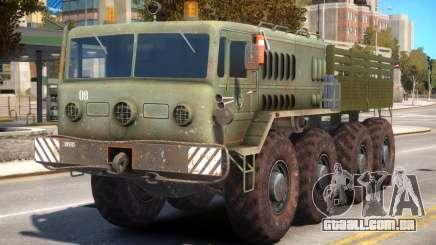 Military Russia Army MAZ 535 para GTA 4