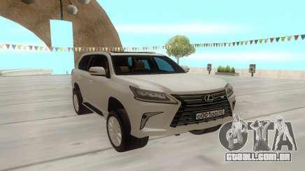 Lexus LX570 branco para GTA San Andreas