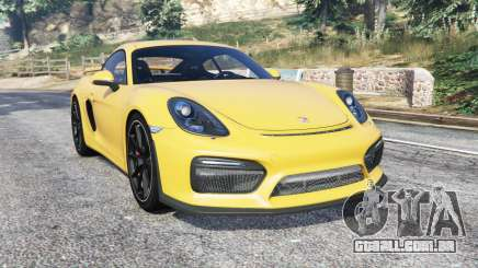 Porsche Cayman GT4 (981C) 2016 v1.1 [replace] para GTA 5