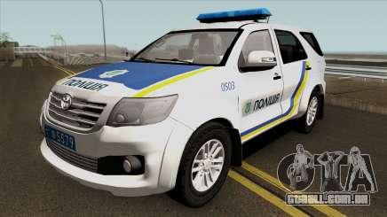 Toyota Fortuner Polícia Da Ucrânia para GTA San Andreas