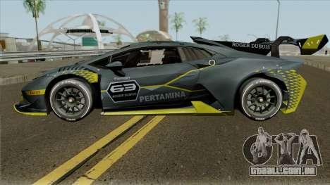 Lamborghini Huracan Super Trofeo EVO 2018 para GTA San Andreas esquerda vista
