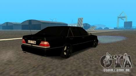 Mercedes-Benz S600 From Brigada para GTA San Andreas