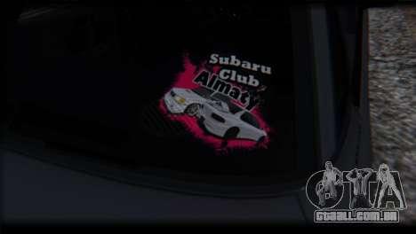 Subaru Legacy RS 1990 para GTA San Andreas