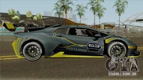 Lamborghini Huracan Super Trofeo EVO 2018 para GTA San Andreas vista traseira