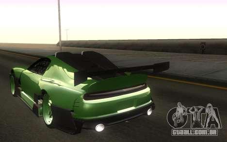 Toyota Supra Tuning para GTA San Andreas traseira esquerda vista