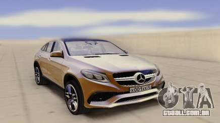 Mercedes-Benz GLE Rus Plate para GTA San Andreas