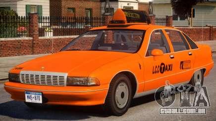 1991 Chevrolet Caprice Taxi v2 para GTA 4